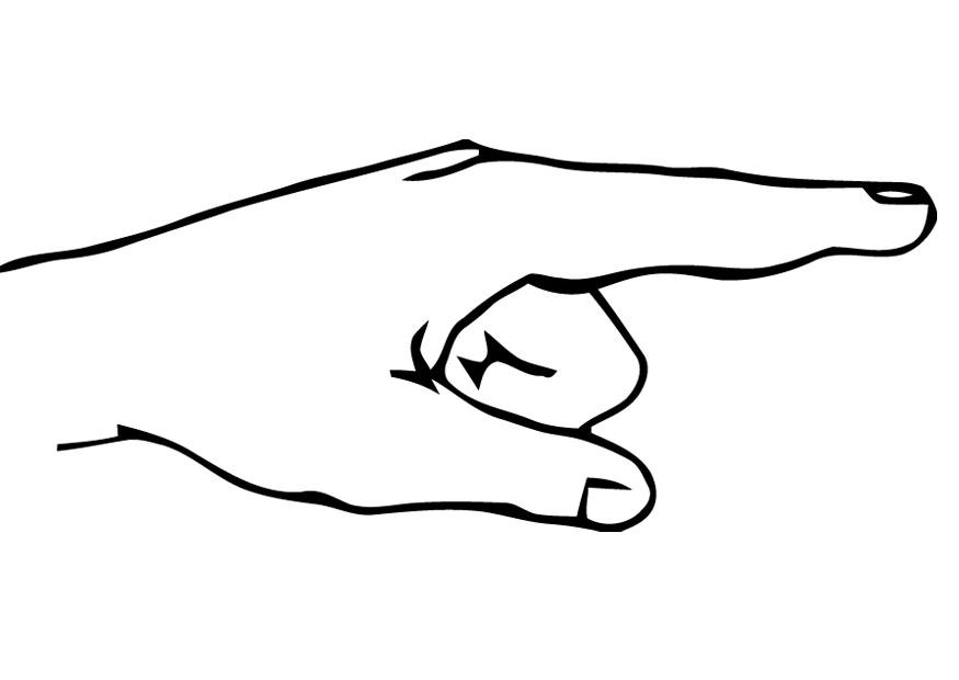Coloring page hand - img 22122.