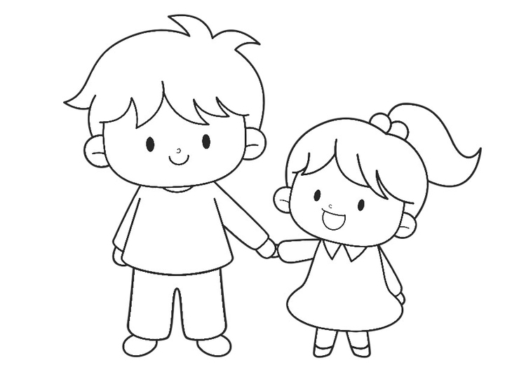 Coloring Page Hand In Hand Img 30226