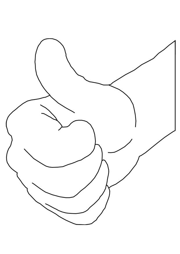 Coloring page hand ok - img 25677.