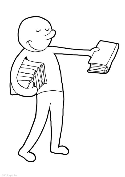 Coloring Page Hand Out Books