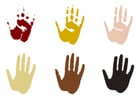 Coloring page hand prints