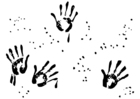Coloring pages hand prints