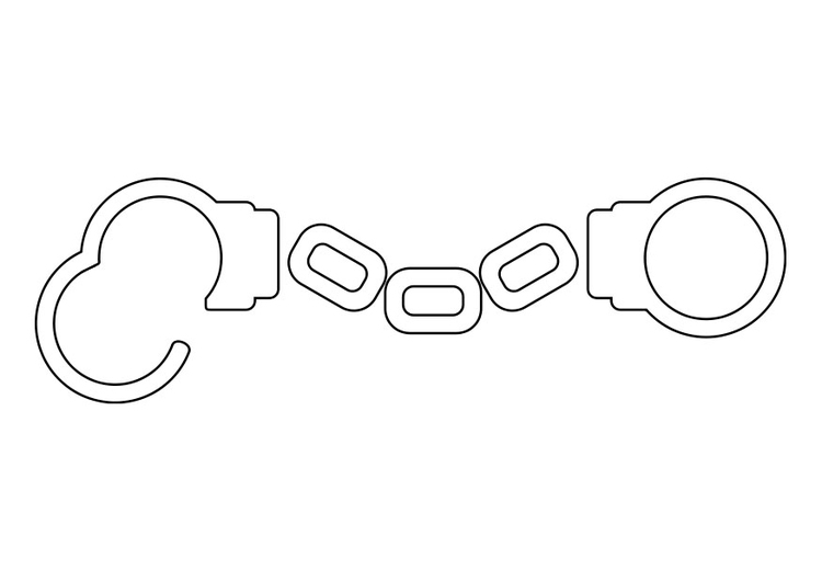 Coloring page handcuffs