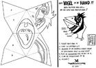 Coloring page handmask bird