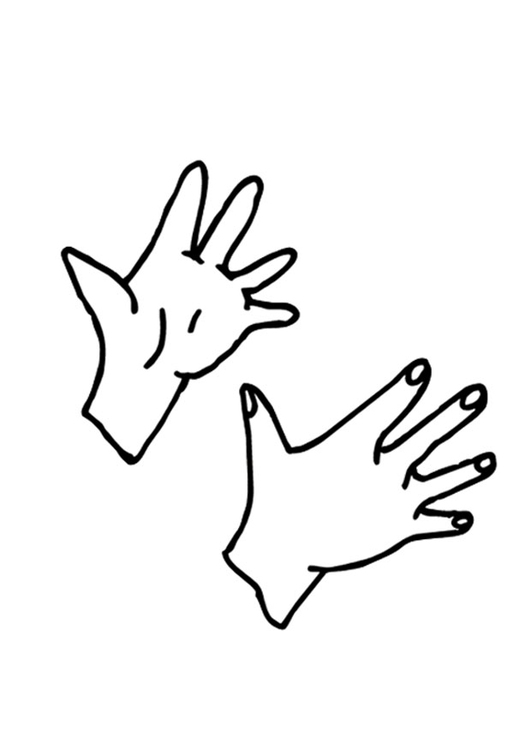 Coloring page hands