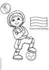 Coloring page Hans from Germany