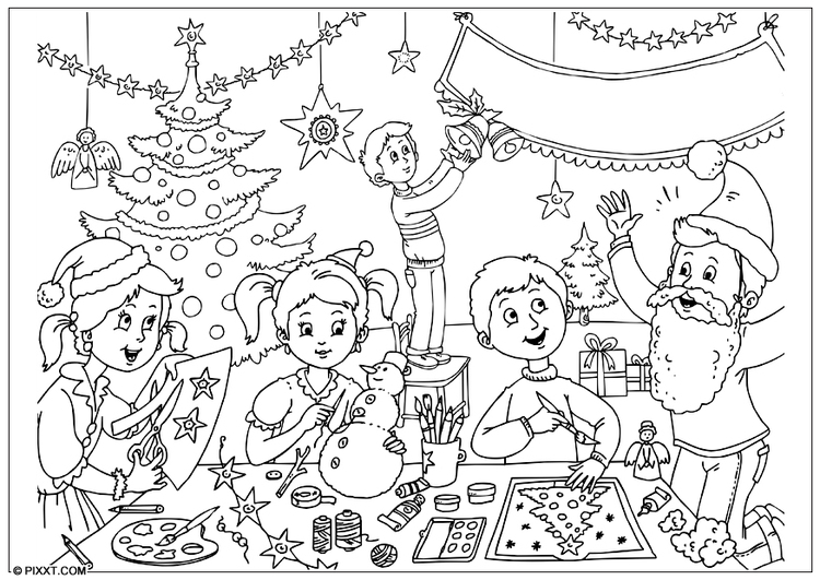 Coloring page Happy Christmas