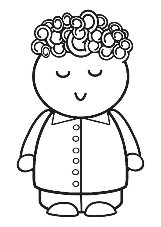 Coloring page happy