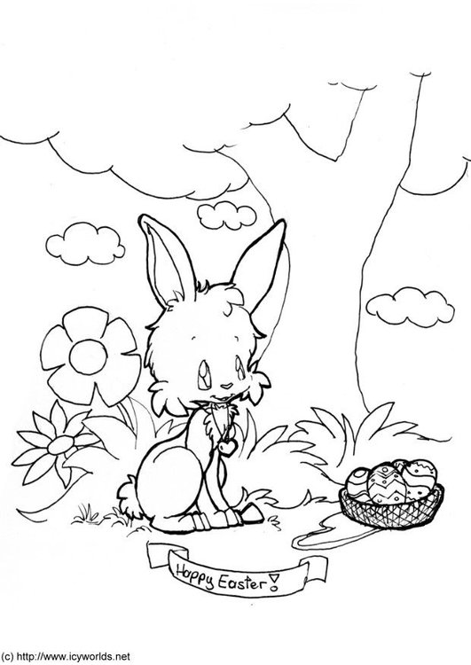 Coloring page happy easter
