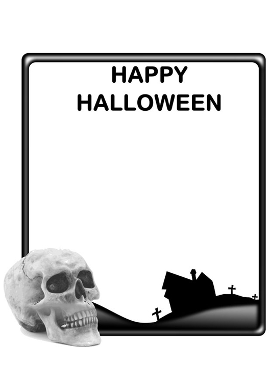 Coloring page happy Halloween