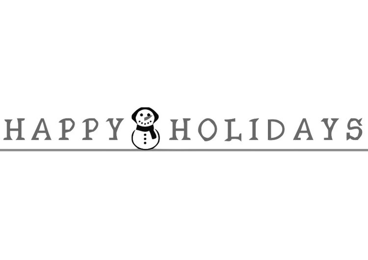 Coloring Page Happy Holidays
