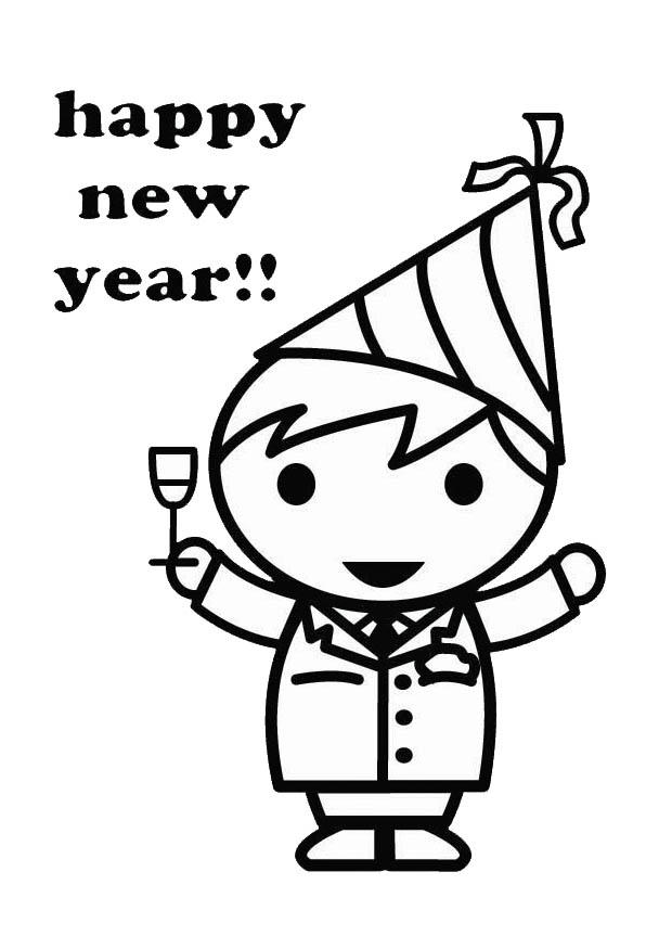 Coloring Page Happy New Year Img 26418