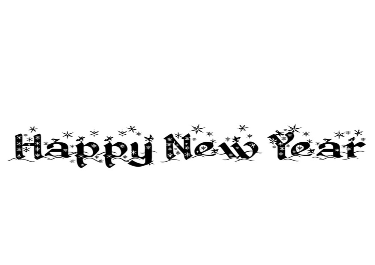 Coloring page Happy New Year