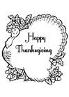 Coloring pages Happy Thanksgiving