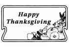 Coloring page Happy Thanksgiving