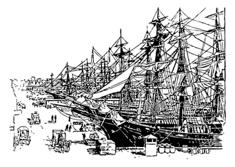 Coloring page harbour