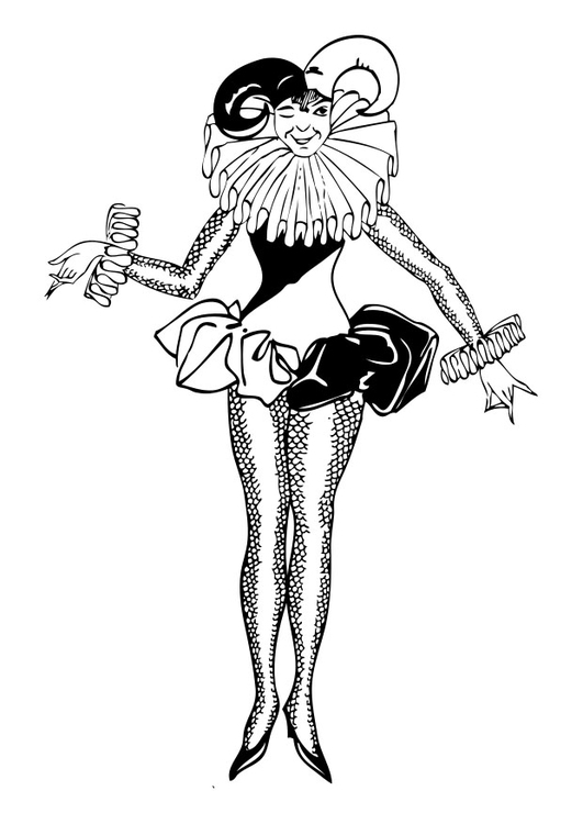 Coloring page harlequin