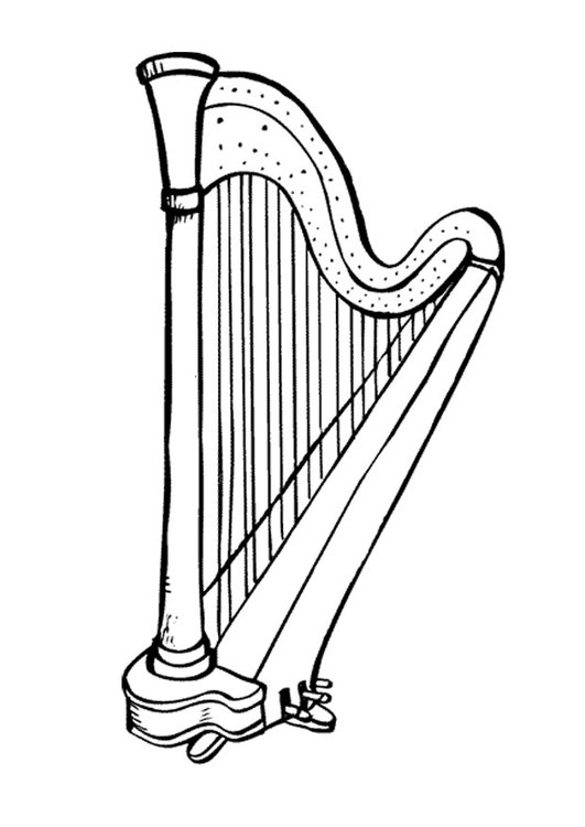 Coloring page harp
