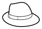 Coloring pages hat