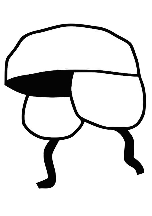 Coloring page hat - ushanka
