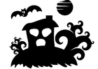 Coloring pages haunted house