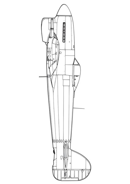hawker tempest cockpit coloring pages | Coloring page Hawker Tempest - img 16441.