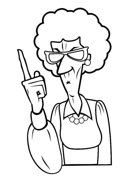 Coloring page head mistress