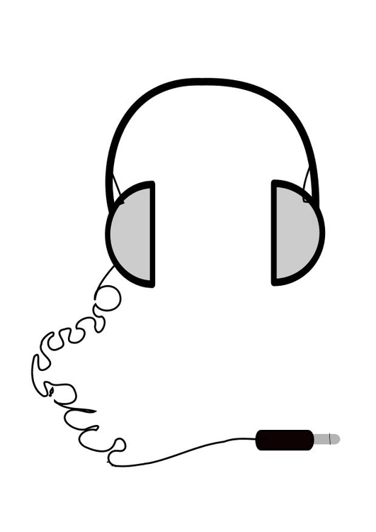 Coloring page head phones
