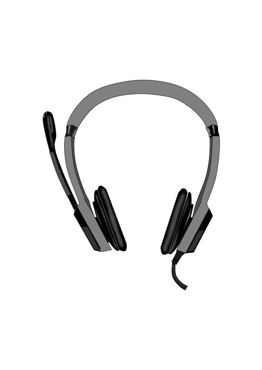 Coloring Page Headphones