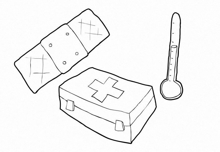 Coloring Page Health Care Img 14738