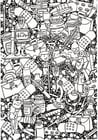 Coloring page healthcare