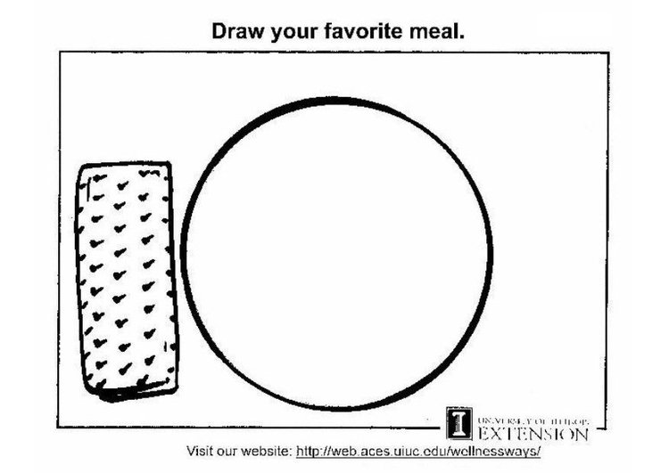 Coloring page healthy food