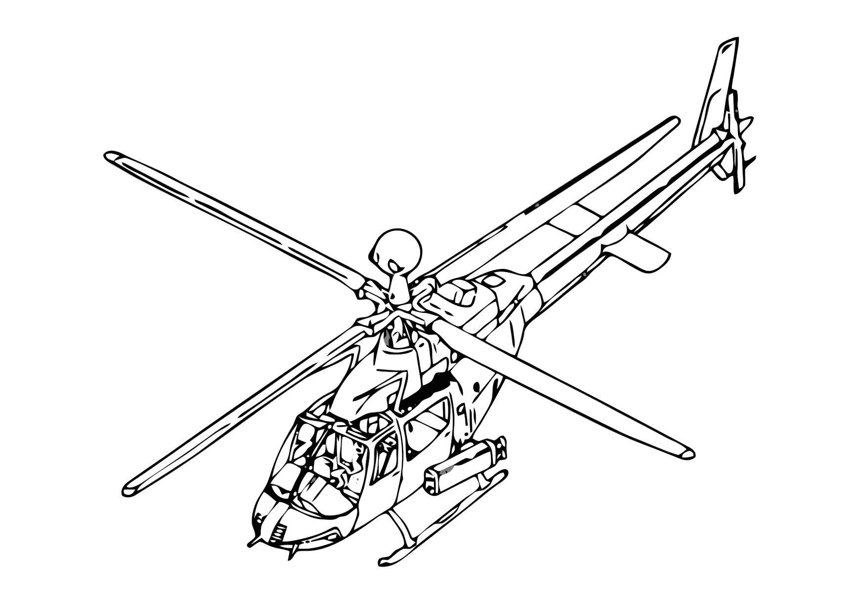 coloring page helicopter img 11862