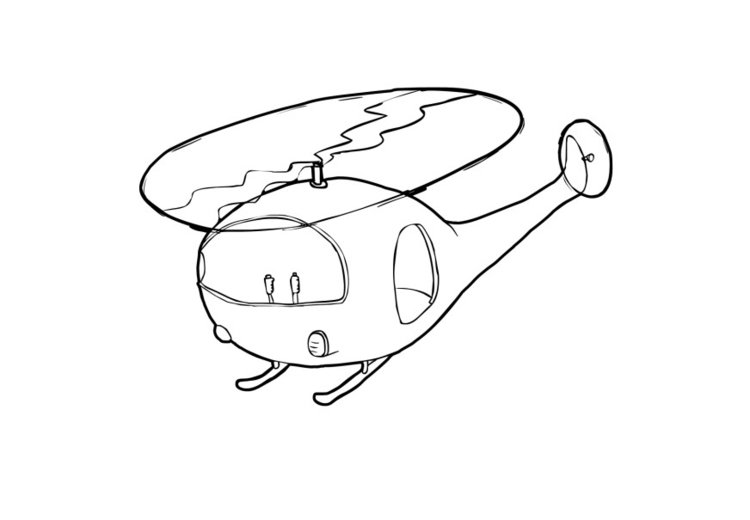 Coloring page helicopter