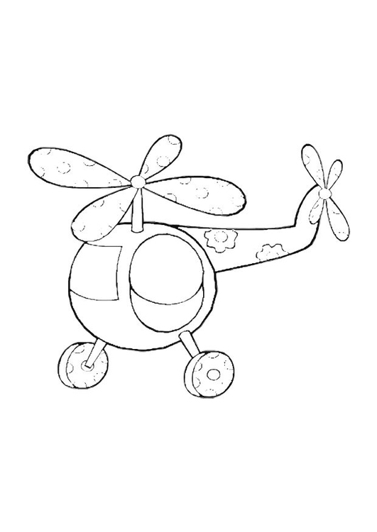 Coloring page helicopter toy