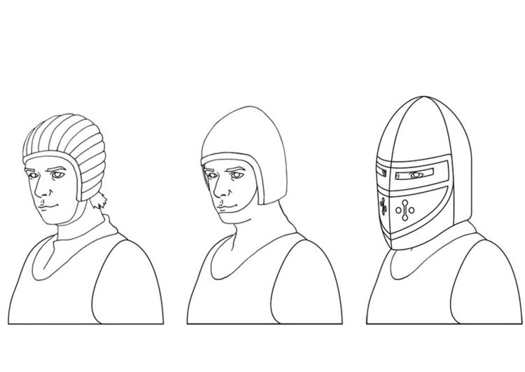 Coloring page helmets