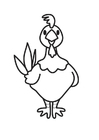 Coloring page Hen