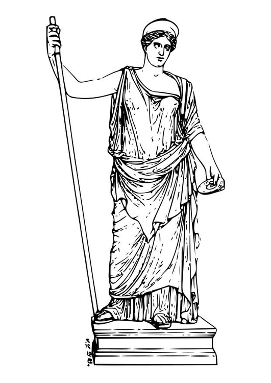 Free Coloring Pages God Hephaestus