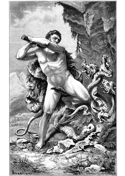 Hercules and the snake