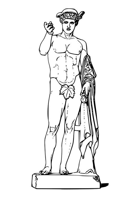 Coloring page Hermes