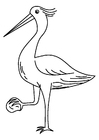 Coloring pages heron
