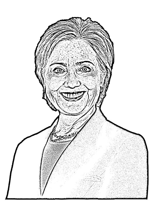 Coloring page Hillary Clinton