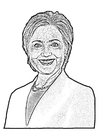 Coloring pages Hillary Clinton