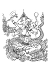 Coloring page hindu god Ganesh