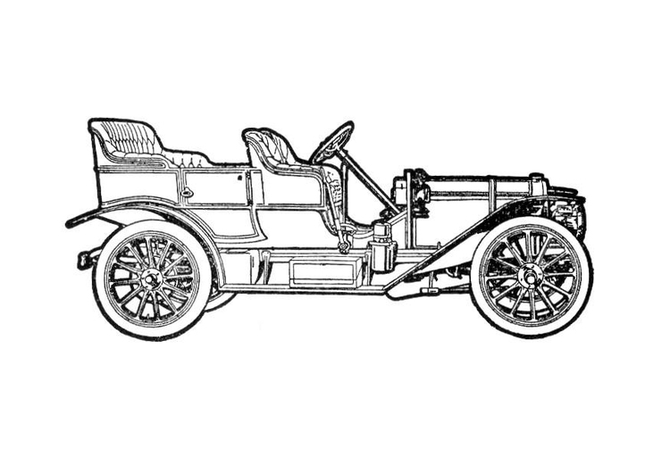 Coloring page historic automobile