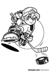 Coloring page hockey