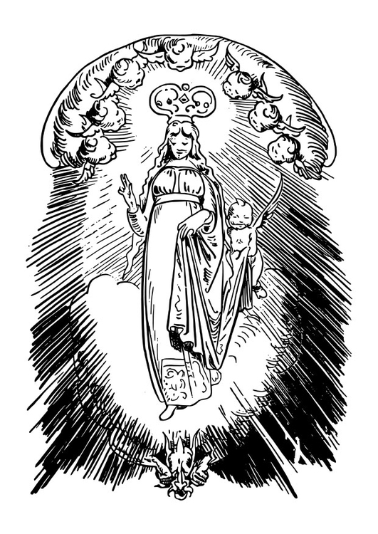 Coloring page Holy Mary