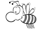 Coloring page honey bee