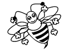Coloring pages honey bee