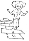 Coloring page hopscotch